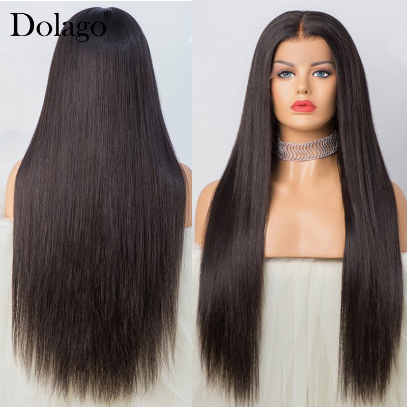 Image 3 - Straight Glueless Full Lace Human Hair Wigs 250 Density HD Transparent Fake Scalp Wig Pre Plucked With Baby Hair Dolago Remy-in Human Hair Lace Wigs from Hair Extensions & Wigs