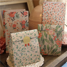 цены 4Pcs/Set with 1 Sheet stickers Hot Sale Japanese style flower paper gift bag Festival Party supplies different patterns
