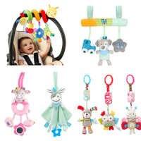 Brinquedos para o Bebê Macio Animal Plush Baby Chocalhos/Brinquedos Do Bebê Sino Brinquedos Pendurados Carrinho Móvel Berço Chocalho Brinquedos de Bebe 0-12 meses