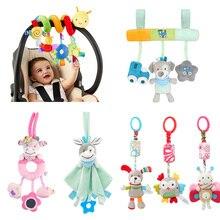 Juguetes para bebé suave felpa de animales para bebé sonajeros/juguetes móviles campana para silla de bebé juguetes de cuna para bebé sonajero juguetes para bebé de 0 a 12 meses