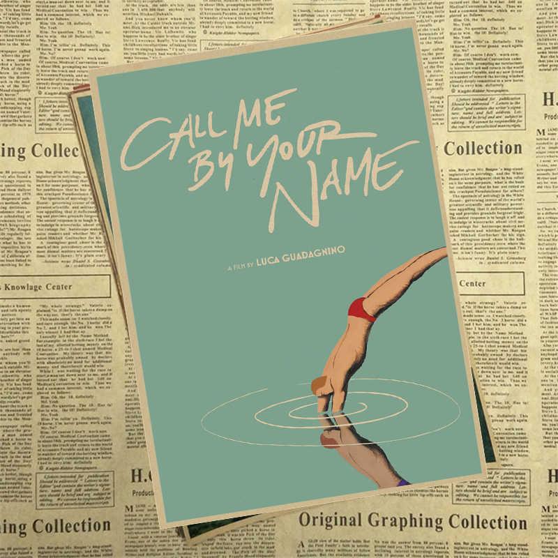Call Me โดยของคุณชื่อ Kraft กระดาษโปสเตอร์บาร์คาเฟ่คุณภาพสูงการวาดภาพ core ตกแต่งภาพวาด 42x30cm