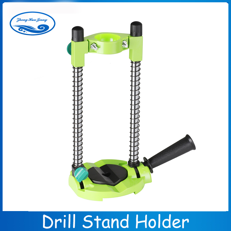 Precision Drill Guide Pipe Drill Holder Stand Drilling Guide With Adjustable Angle And Removeable Handle DIY Tool