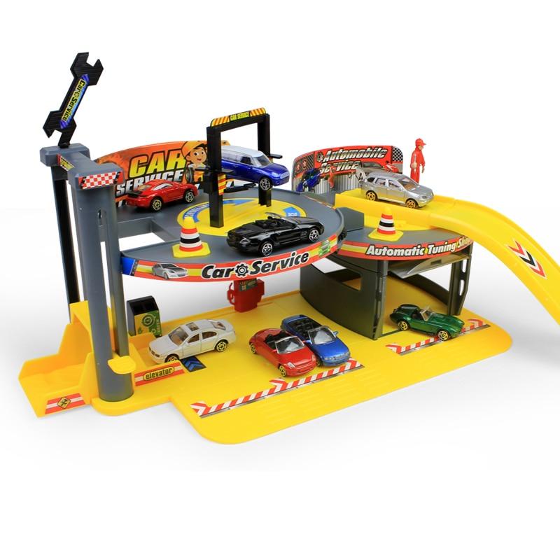 2018 Hotsale Stereoscopic parking assembled educational toys scene suit children orbital The boy play house gift Kids Toys ...
