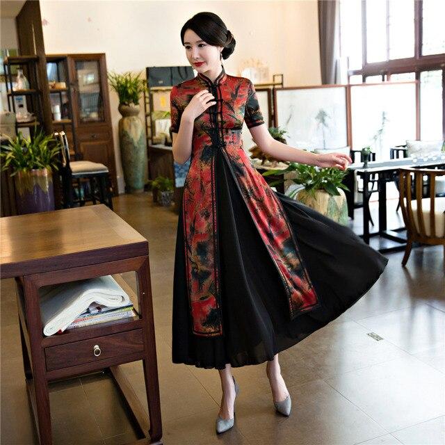 b83856595b73 Shanghai historia nueva venta de primavera Aodai Vietnam Cheongsam vestido  para las mujeres ropa tradicional ao dai conjunto tiempo qipao