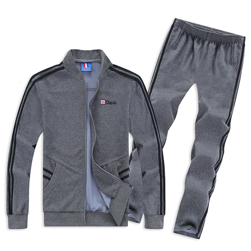 Use For 130kg Mens Sport Suit Large Size 6XL 7XL 8XL Sportswear Sets Loose Keep Warm