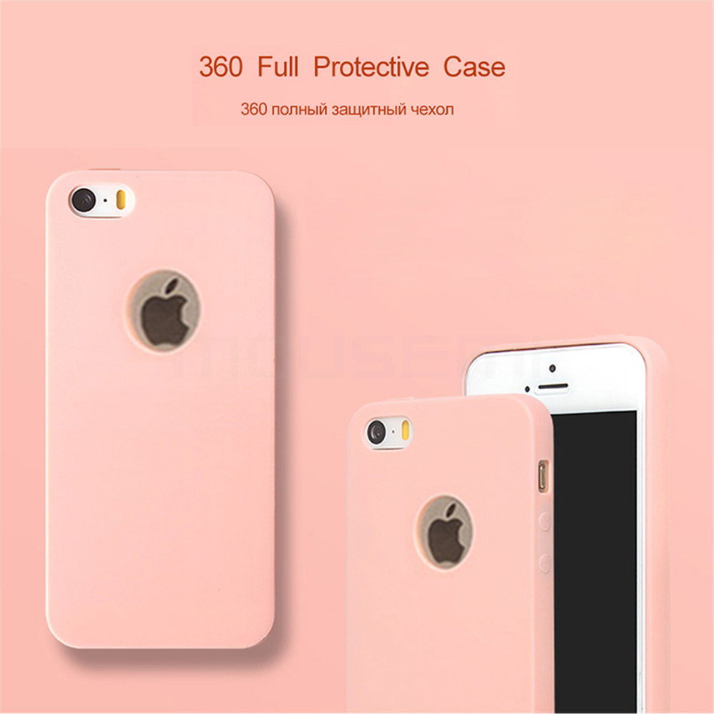 MOUSEMI Phone Cases Silicone 5S se For iPhone Case Candy For iPhone 5s se 5 Case Cute Silicone Pink Soft Luxury Matte Coque 5s 5 (3)