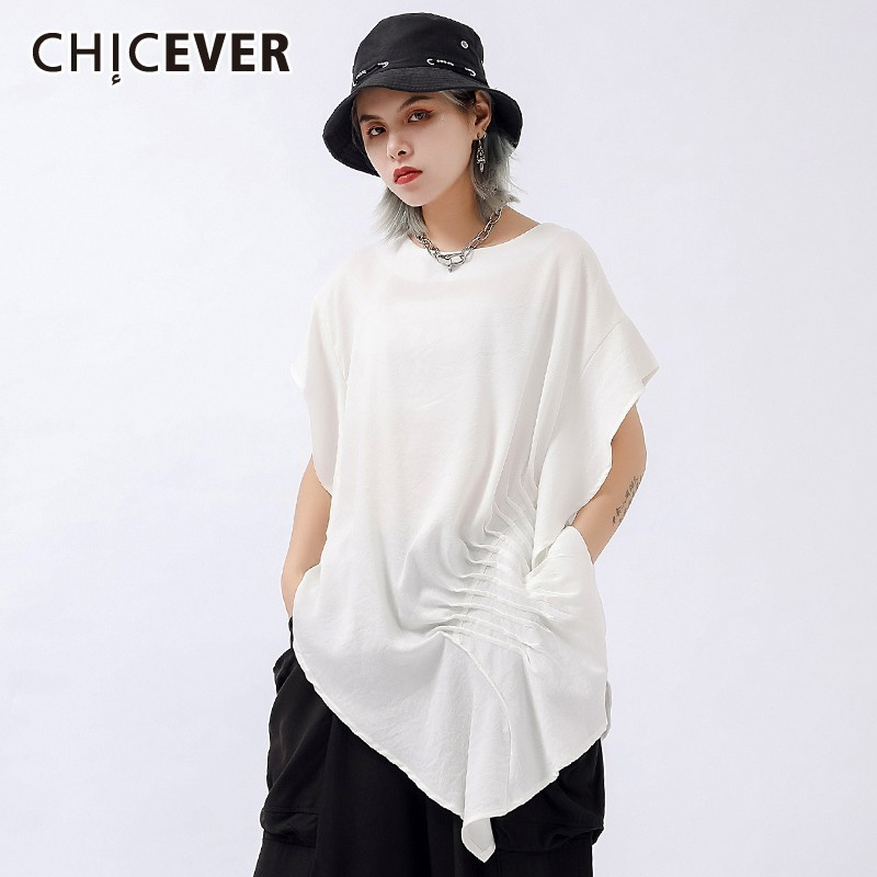 Women's Clothing Chicever Summer Women Print Shirt Lapel Three Quarter Sleeve Button Open Stich Loose Slim Long Female Top Blouse 2019 Fashion