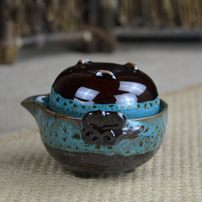 Beautiful Gong Fu Tea Ceremony Travel Teapot 2