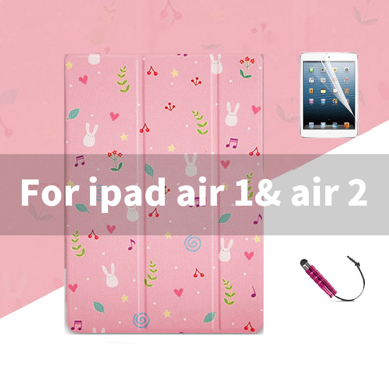 ipad air 1 2 Lovely pink pattern case wit 3stand for iPad 2,3,4, Mini 1,2,3,4, Air 1,2, 2018, 2017,