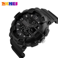 SKMEI Men Outdoor Military Sport LED Digital Watches Chronograph Date Alarm Dual Time 50M Waterproof Army