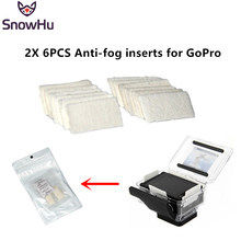 SnowHu for Go pro accessories Anti-fog interts 12pcs included Reusable for GoPro Hero 8 7 6 5 4 3+ and other sport cameras GP89(China)