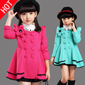 Age 3-13T Girls coat flower long spring winter autumn fall princess formal cardigan child teen age school outfits for teenagers