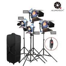 ALUMOTECH Como Arri Fresnel Tungstênio luz Câmera de Vídeo Dimmer Embutido 300wX2 + 150WX2
