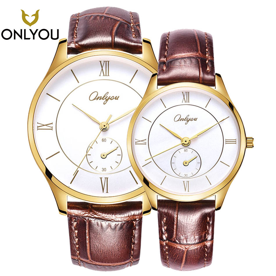 2017 Wristwatch Men Watches ONLYOU Lovers Watch Luxury Brand Popular Famous Male Clock Gold Quartz Watch Classical Women Watches цена и фото