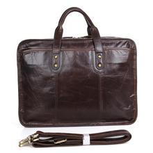 2016 New Arrival 100% Leather Briefcases Men's Cow Leather Messenger Shoulder Bag Handbags Travel Bags 7329