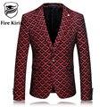 Мужская Цветочный Блейзер Slim Fit Blazer мужской Вино Красное Свадебное Платье Пиджаки Повседневная Jaqueta Masculina Бренд Одежды Q55