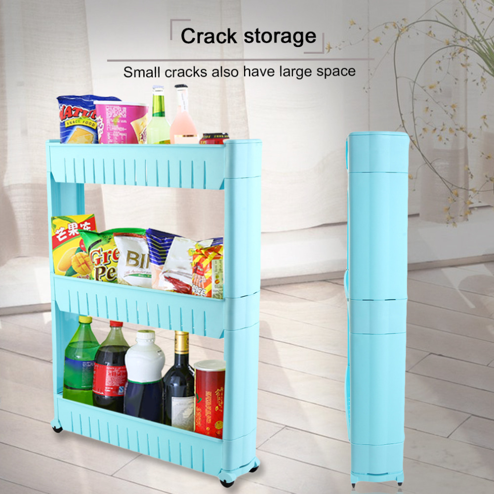 Multifunctional Storage Shelf Movable Save Space Rack Multi layer ...