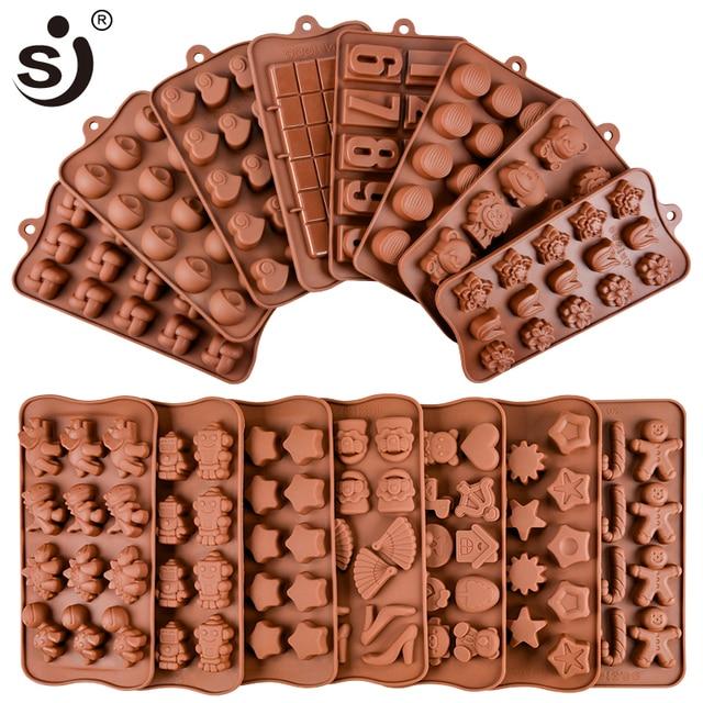 Molde de silicona para hornear Chocolate de 24 formas, herramientas antiadherentes para pastel de silicona, molde de gelatina y caramelo, molde 3D DIY bueno