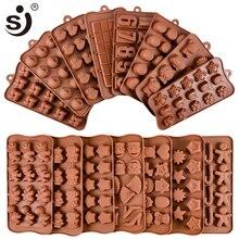 Nouveau Silicone moule à chocolat 24 formes chocolat outils de cuisson antiadhésif Silicone gâteau moule gelée et bonbons moule 3D moule bricolage bon