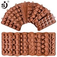 Yeni silikon çikolata kalıp 24 şekiller çikolata pişirme araçları yapışmaz silikon kek kalıbı jöle ve şekerleme kalıbı 3D kalıp DIY iyi