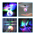 2016 New Flying RC Crystal Ball Led Colorful quadcopter flying Light Ar.drone Aircraft Helicopter Induction Toys for Kids Xmas