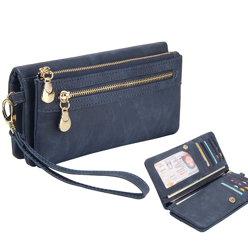Long Wallet Women Purses Fashion Coin Purse Card Holder Wallets Female High Quality Clutch Money Bag PU Leather Wallet