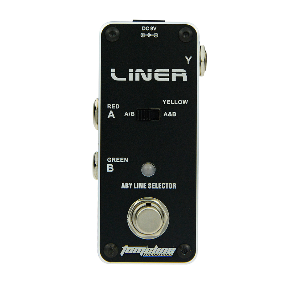 AROMA Tom'sline ALR-3 Liner Aby Line Selector Mini Electric Guitar Effect Pedal Ture Bypass Guitarra Effect Pedal aroma atp 3 tube pusher valve combo simulator electric guitar effect pedal true bypass guitarra part