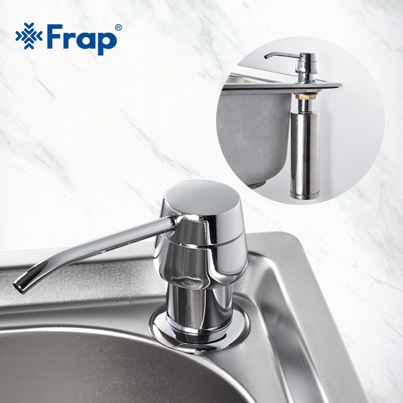 Frap Cheaper Stainless Steel Liquid Soap Dispenser Kitchen Sink Soap Box Chrome Finished detergent dispensers Kitchen accessorieFrap Cheaper Stainless Steel Liquid Soap Dispenser Kitchen Sink Soap Box Chrome Finished detergent dispensers Kitchen accessorie