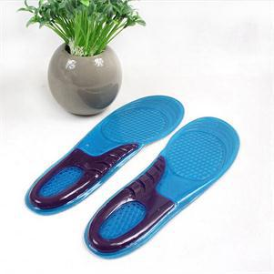 1Pair Men Athletic Shoes Cushion Football Sports Soles Shock Absorbing Silicone Gel Insoles Hiking Feet Care Gel Insoles Inserts 2018 1pair unisex elastic soft non slip shock absorbing silicone insoles basketball sports shoes pad blue color 1016