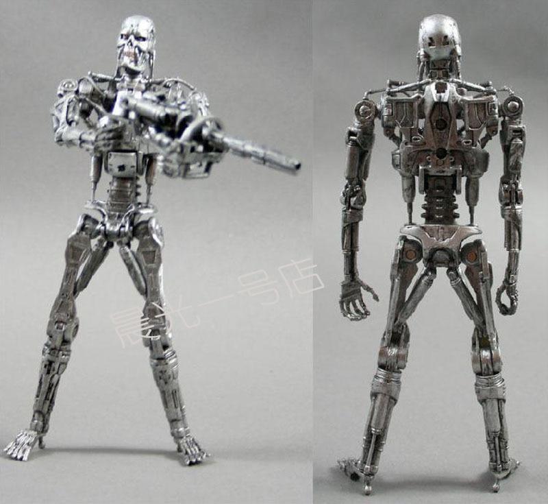 "Free Shipping <font><b>NECA</b></font> <font><b>Terminator</b></font> <font><b>2</b></font> Judgment Day T-800 <font><b>Endoskeleton</b></font> PVC <font><b>Action</b></font> <font><b>Figure</b></font> Robot Toys <font><b>7</b></font>"" 18CM MVFG096"