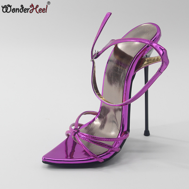 New metal extreme heel sandals 2