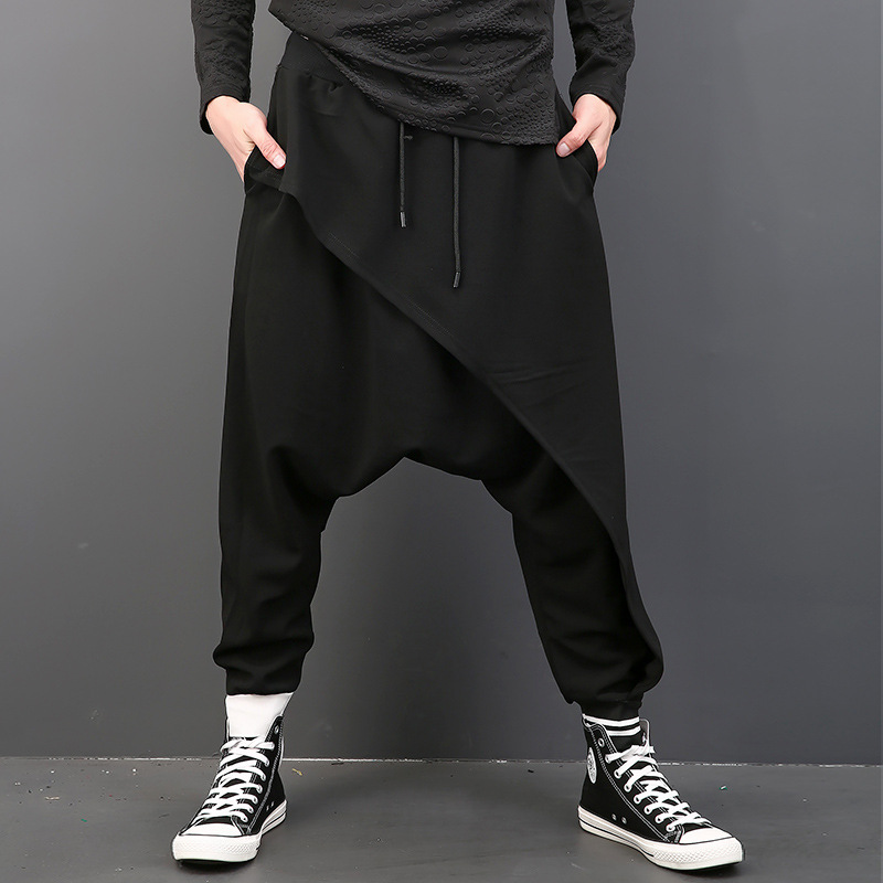 Casual Pants Hip-Hop Loose Men's Fashion New S-XXXL Large-Size Personality