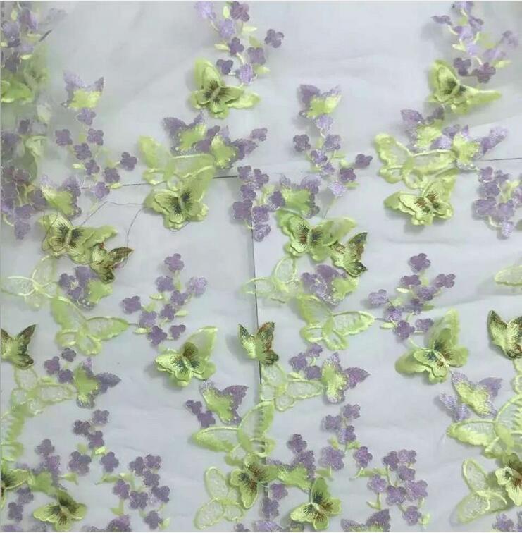 5 yard Neue 3D Schmetterling Blume Net Garn Blume Stickerei Spitze - Kunst, Handwerk und Nähen - Foto 5