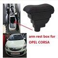 Для Opel Corsa подлокотник коробка центральный магазин содержание Opel Corsa подлокотник коробка с подстаканником пепельница с интерфейсом USB
