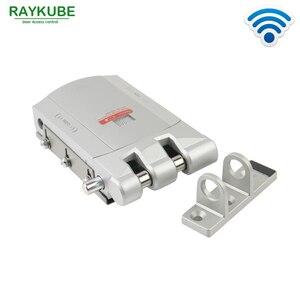 Image 4 - Installazione facile della porta di sicurezza della serratura astuta R W03 RAYKUBE controllo senza fili elettrico della serratura di porta con telecomando aperto & vicino