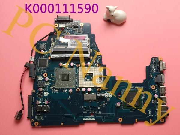 ФОТО Genuine For TOSHIBA Satellite C660 K000111590 PWWAA LA-6841P laptop motherboard integrated DDR3 GL40 Working