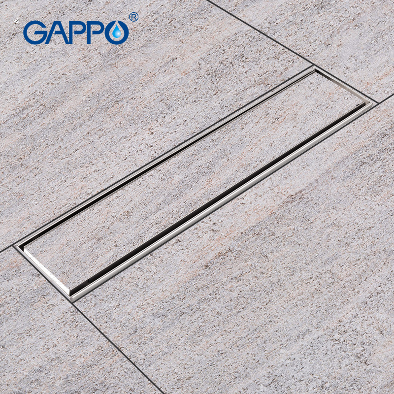 GAPPO Drains Stainless Steel Recgangle Bathroom Floor Cover Shower Drain Strainer Floor Floor Waste Drains