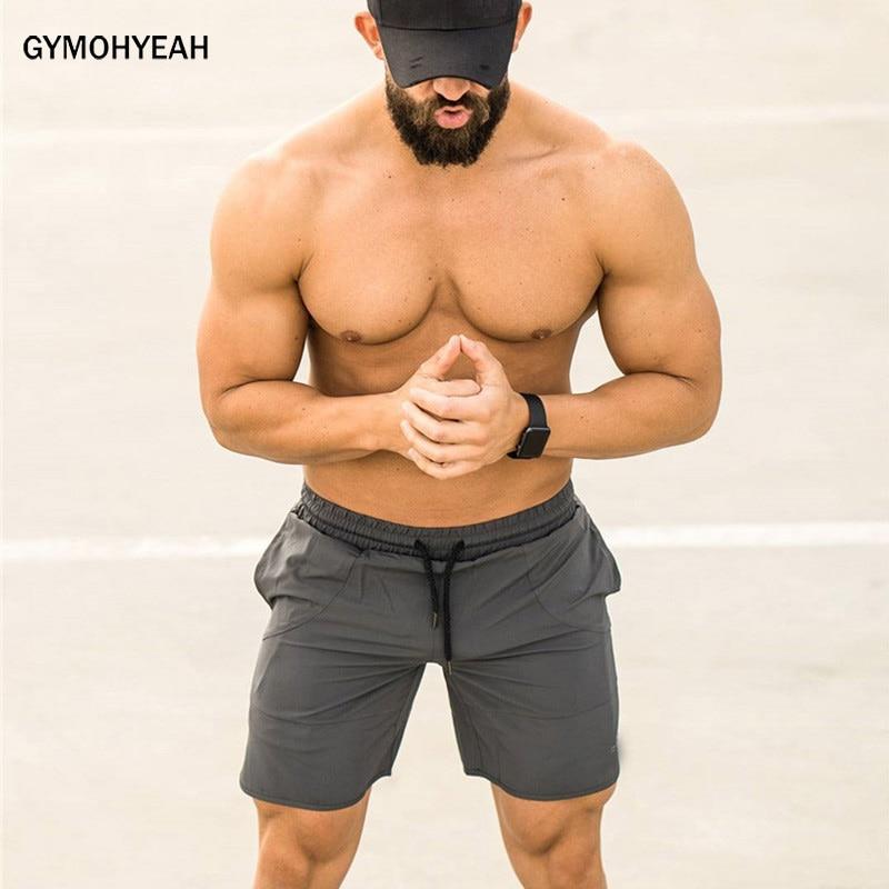 GYMOHYEAH Shorts Men Available Shorts Loose Elastic Waist Breathable Beach Shorts Quick Dry Sportswear Jogger Beach Short Pants