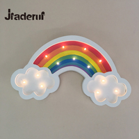 Jiaderui Wooden LED Rainbow Night Light Home Decoration 3D Lamp Kids Christmas Gift Baby Room Decor