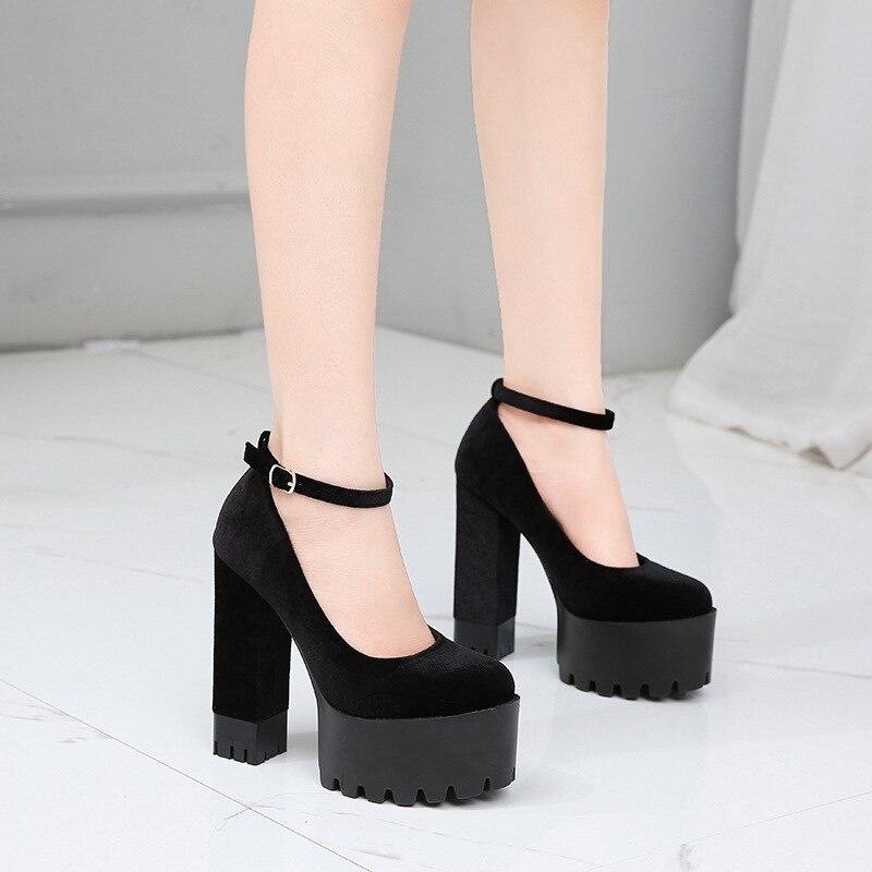 Laufsteg Wasserdichte Schuhe 1317 Cm Cheongsam Zyw Absätzen Poadisfoo Super Mit 2 Zeigen Einzelnen Frauen Plattform Hohen 15 8R5PZ