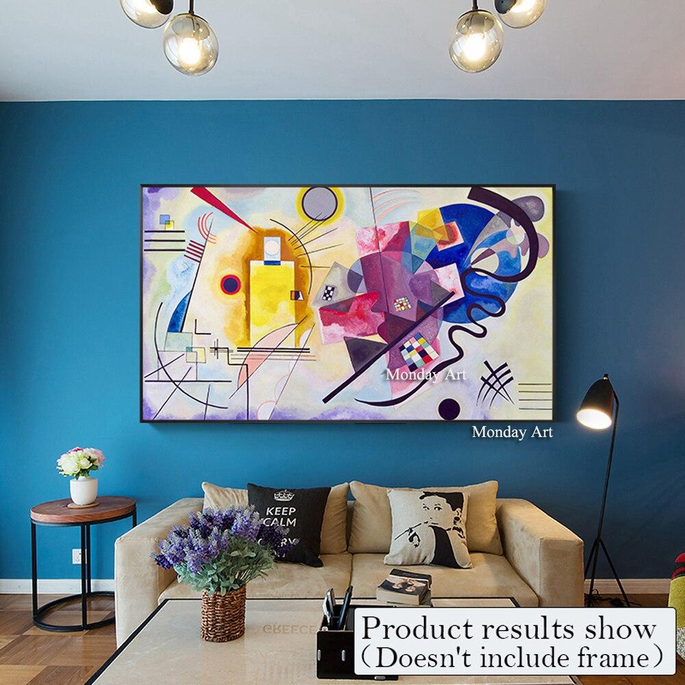 Beroemde Picasso Moderne Pure Hand Verf Abstracte Kleurrijke Canva Schilderij Posters Home Decoratieve Kunst Foto 'S voor Woonkamer Muur-in Schilderij & Schoonschrift van Huis & Tuin op  Groep 3