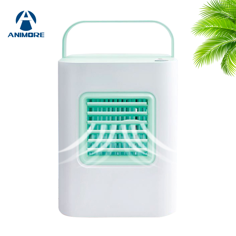 ANIMORE Portable USB Air Cooler Indoor Humidifying Cooler Fan Small Air Conditioner Fan Personal Mini Air-cooler 4 Colors FAN-12 ss3001 12 4 12sqm and 4mm fin spacing without heater air cooler