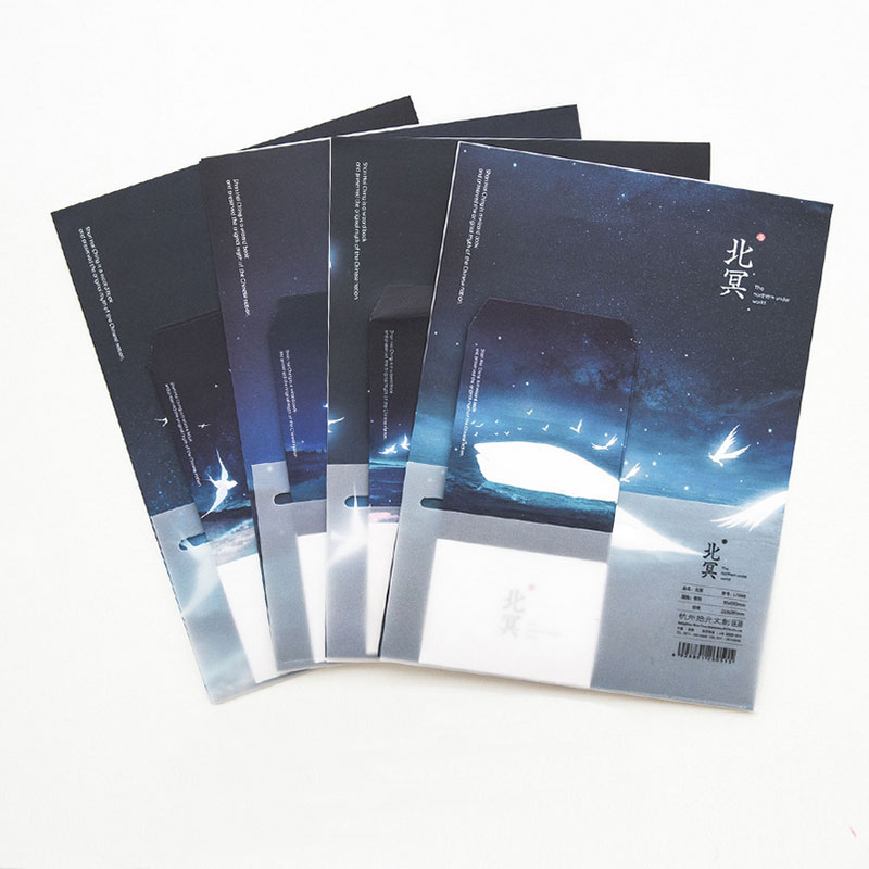 12 Sheet Letter Paper+ 6 Pcs Envelopes Sea Creative Illustrations Letter Pad Set Writing Paper Office&School Supplies