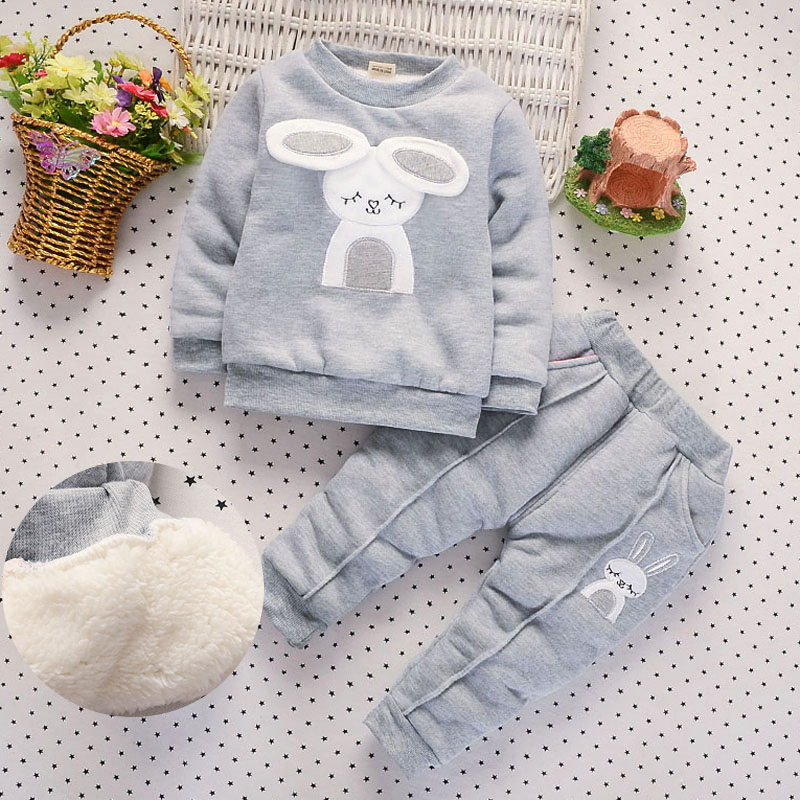 BibiCola Baby Girls Clothing Set Children Plus velvet Thicken 2pcs Winter Clothes Set Kids Sports Suit Toddler Warm Tracksuit spring children sports suit tracksuit for girls kids clothes sports suit boy children clothing set casual kids tracksuit set 596 page 3