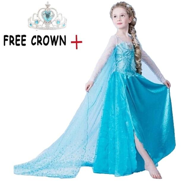 Bebé niñas princesa Anna Elsa vestir fiesta de Navidad de Halloween Cosplay traje Elsa vestidos para niña Bola de lujo Vestido