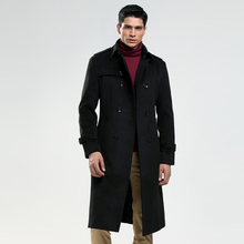 New Winter Men Wool Coat Long Paragraph Male Fashion Double Breasted h