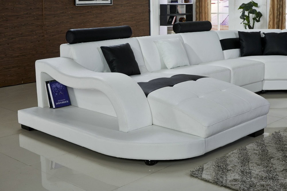 Lizz White Modular Sofa And Lounge U Shape Leather With Side Coffee Table In Living Room Sofas From Furniture On Aliexpress Alibaba Group