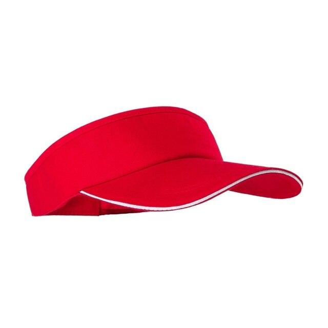 3d19e27c028 2018 Empty Top Hat Solid Color Men And Women Sports Tennis Cap No Top Visor  Tennis