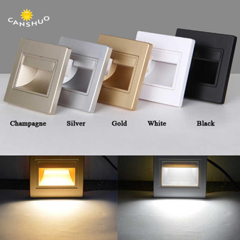 CANSHUO встраиваемые светодиодные Лестничные светильники 85-265 в светодиодные настенные бра освещение в шаговый светильник лестничные фонари теплый белый/холодный белый + 86 коробка