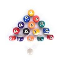 Pratique Piscine Boules 38mm Ensemble Complet Résine Formation De Table, Boules De Billard Cue Ball pour Enfants Enfants
